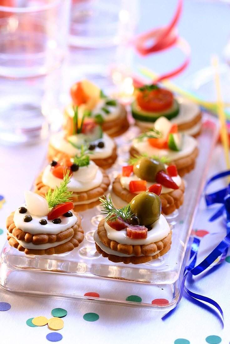 Small savoury party sandwiches