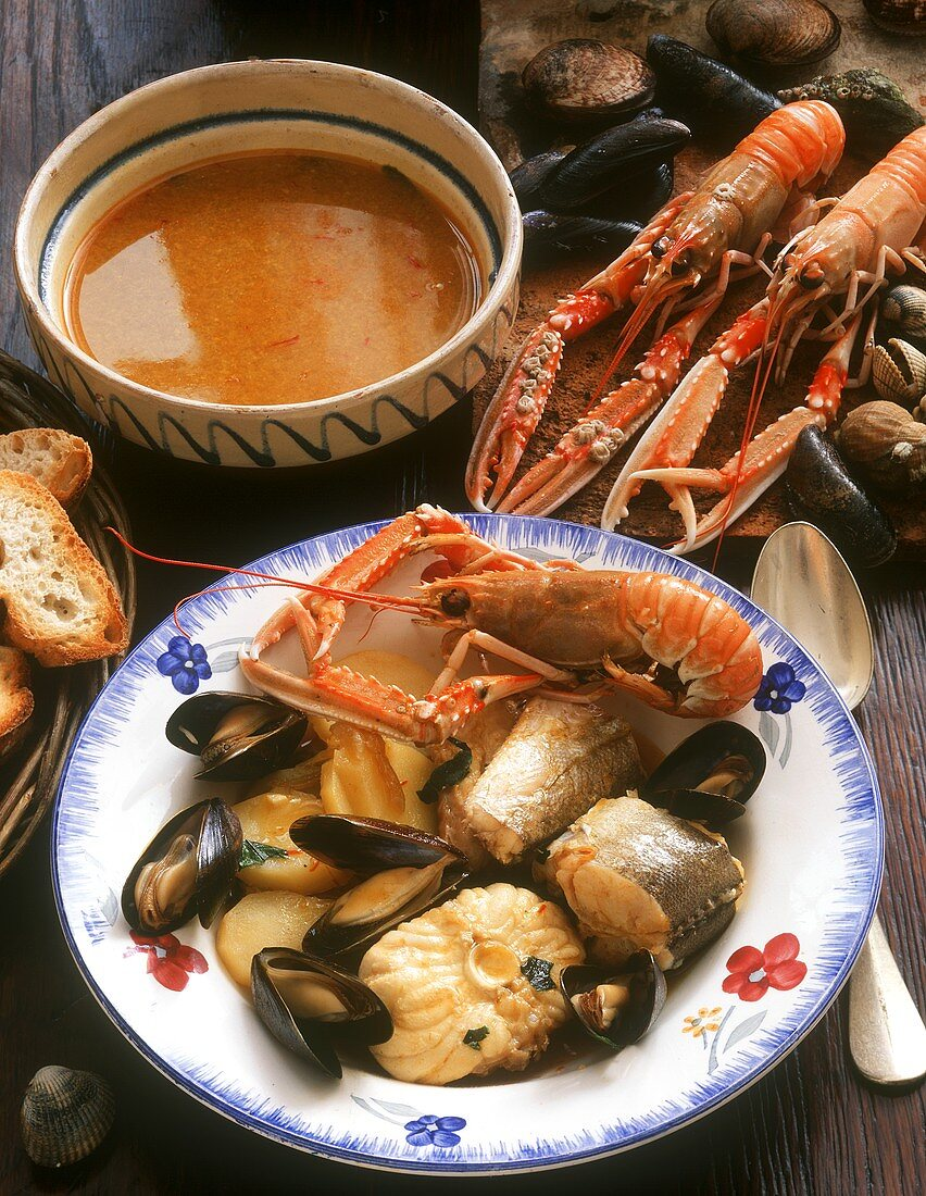 Bouillabaisse and rouille