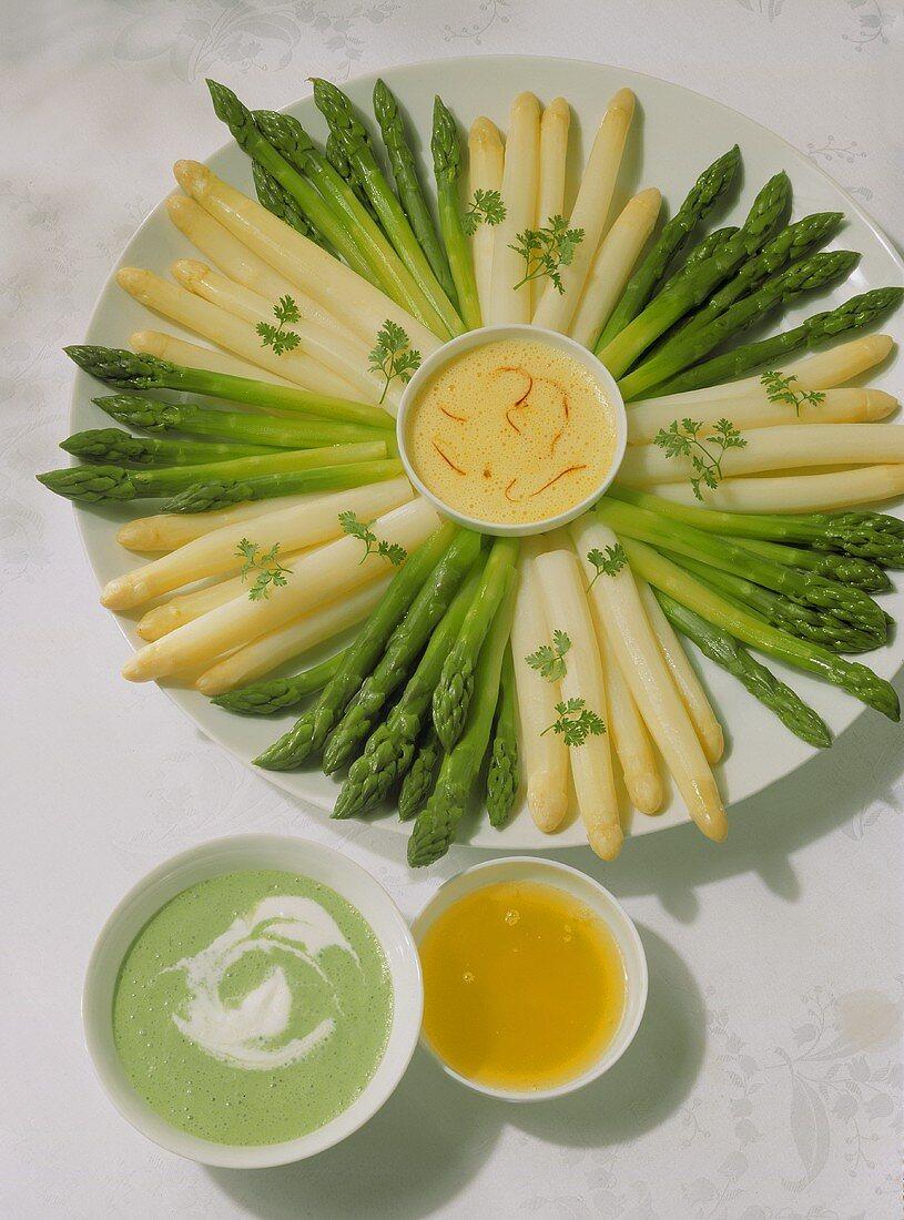A small asparagus fondue