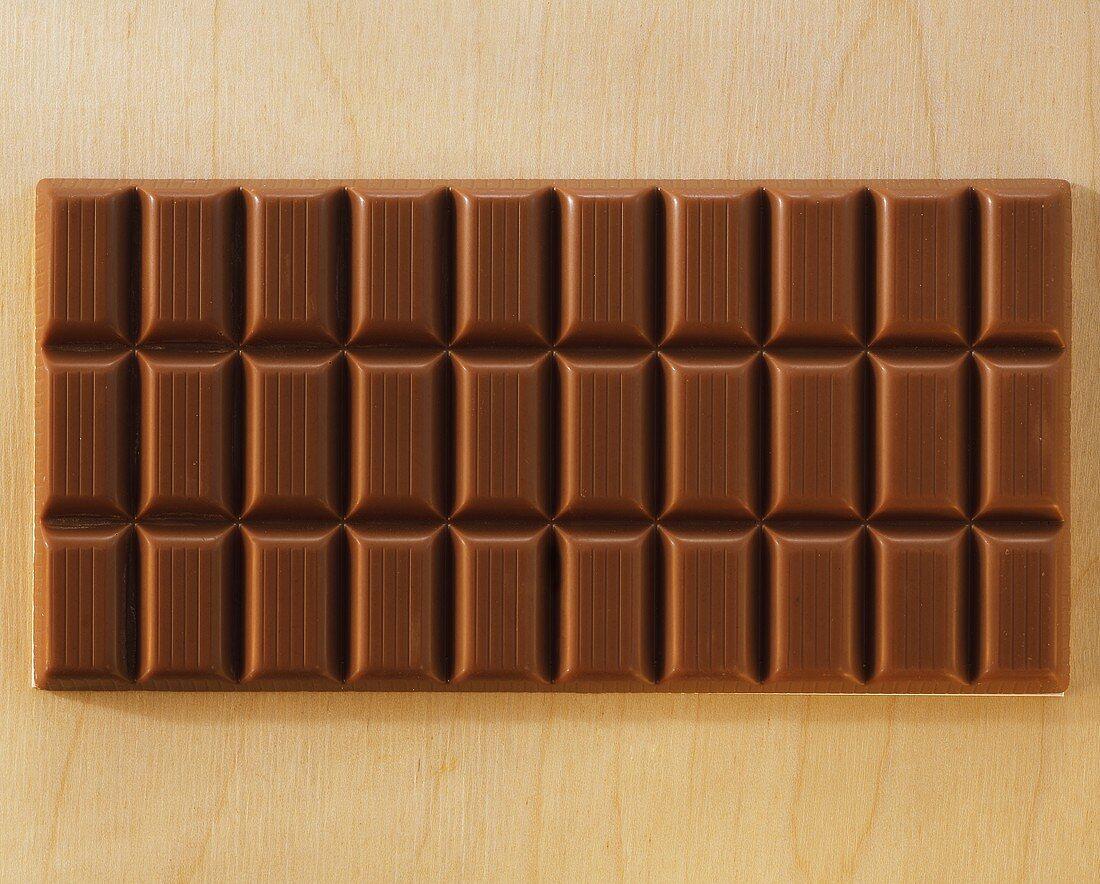 A whole milk chocolate bar