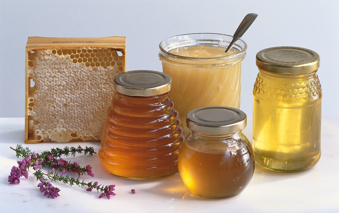 Chestnut honey, rosemary honey, wild honey and Acacia honey