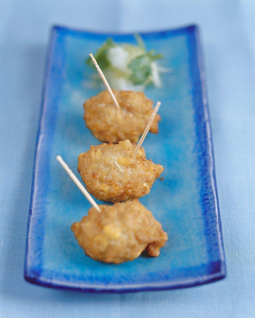 Deep-fried corn fritters (Thailand)