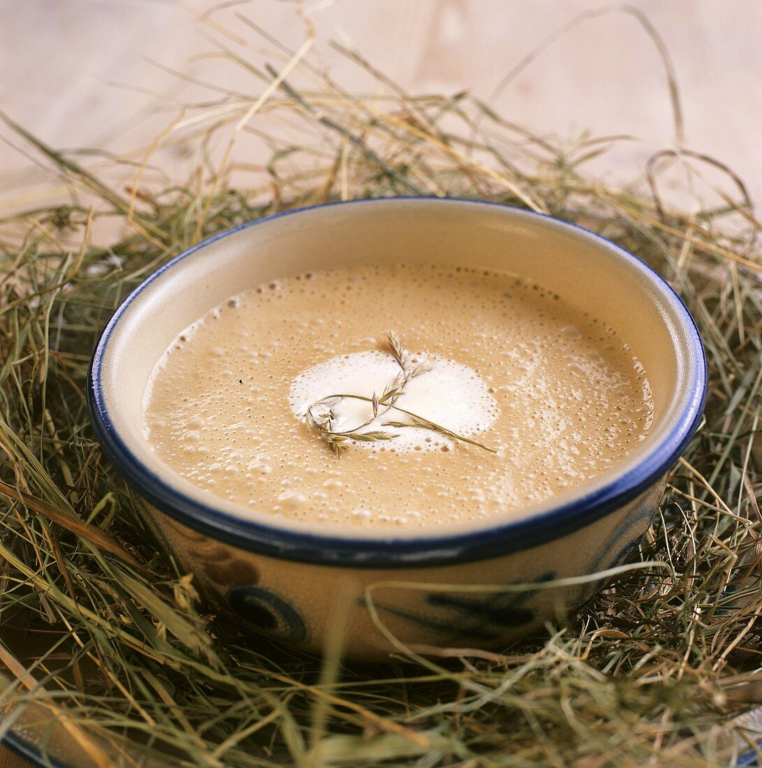 Zvozer (hay soup), speciality from the Engadine, Switzerland