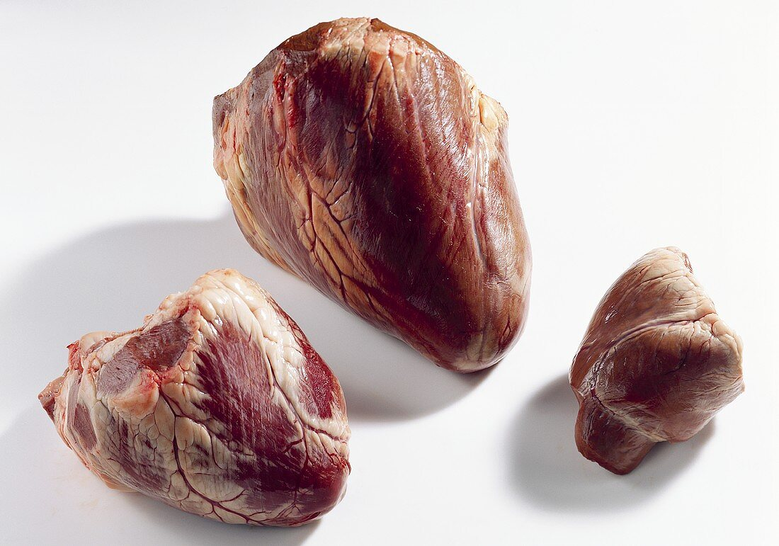 Hearts - veal, beef and pork