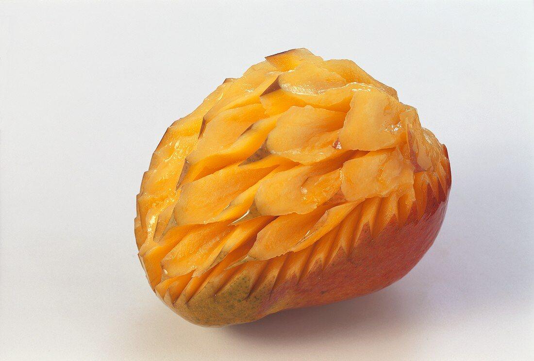 Carved mango