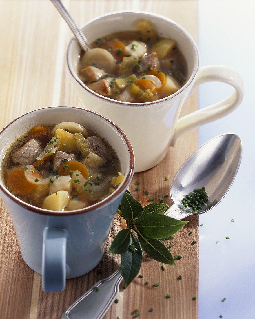 Winzertopf (Meat & vegetable stew with white wine, Hessen)