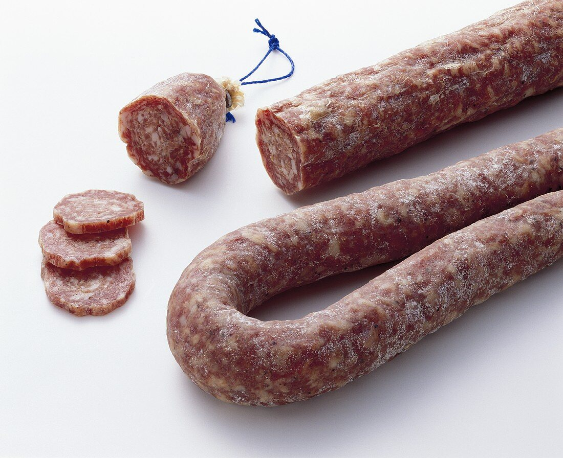Ahle sausage (hard cured sausage from Hessen)