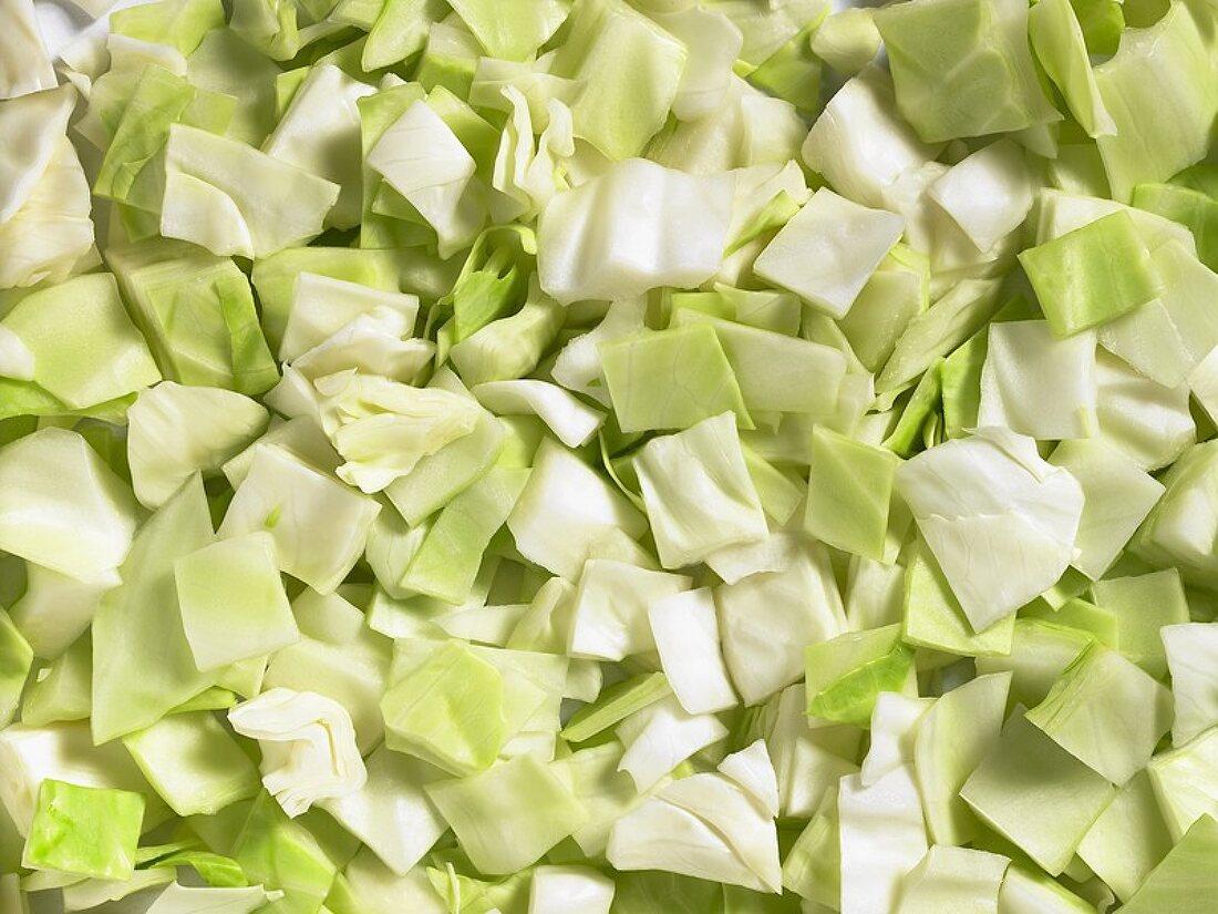 Chopped white cabbage (full-frame)