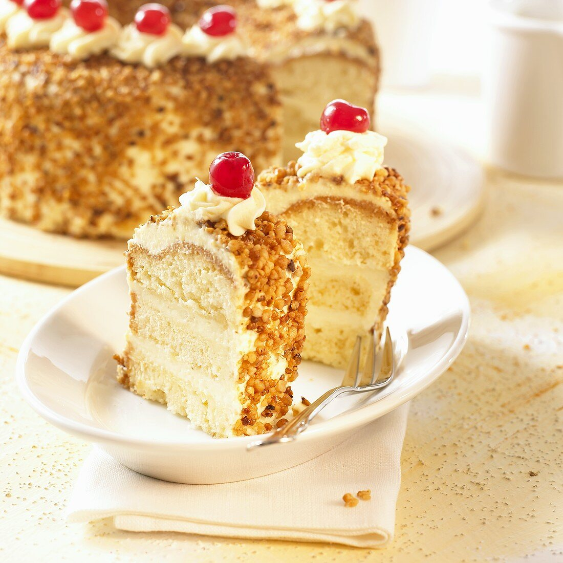 Frankfurt crown cake with glacé cherries