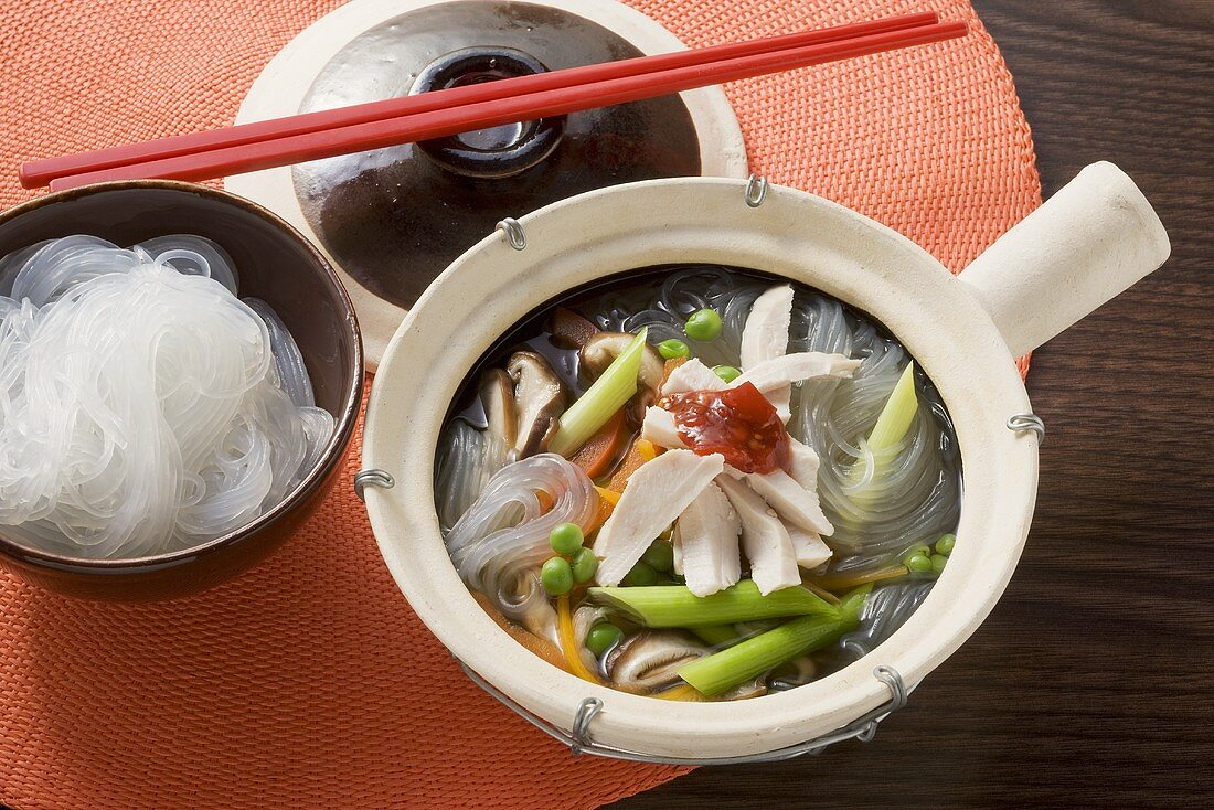 Oriental stew with glass noodles