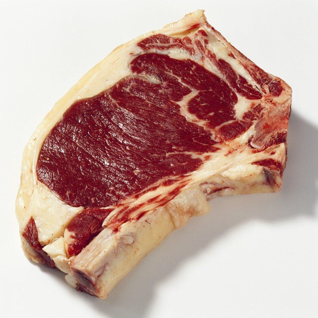 Slice of beef sirloin with bone