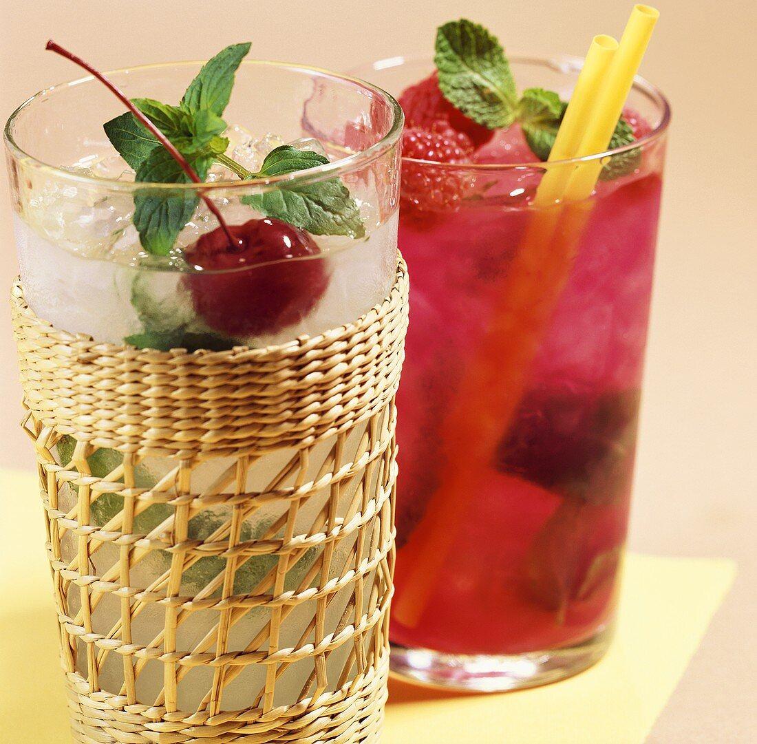 Summer drinks: Vanilla Julep and Raspberry Julep