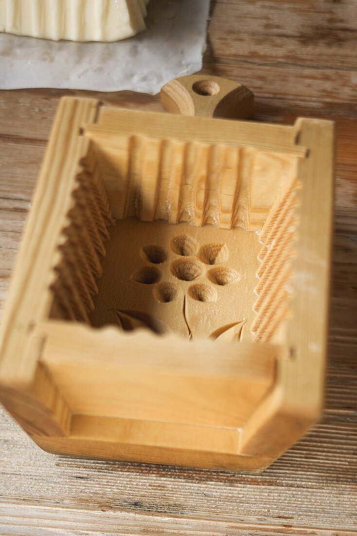 Wooden butter mould
