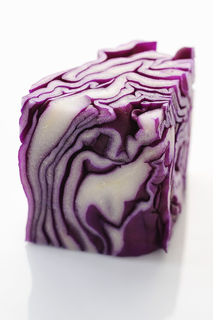 A piece of red cabbage