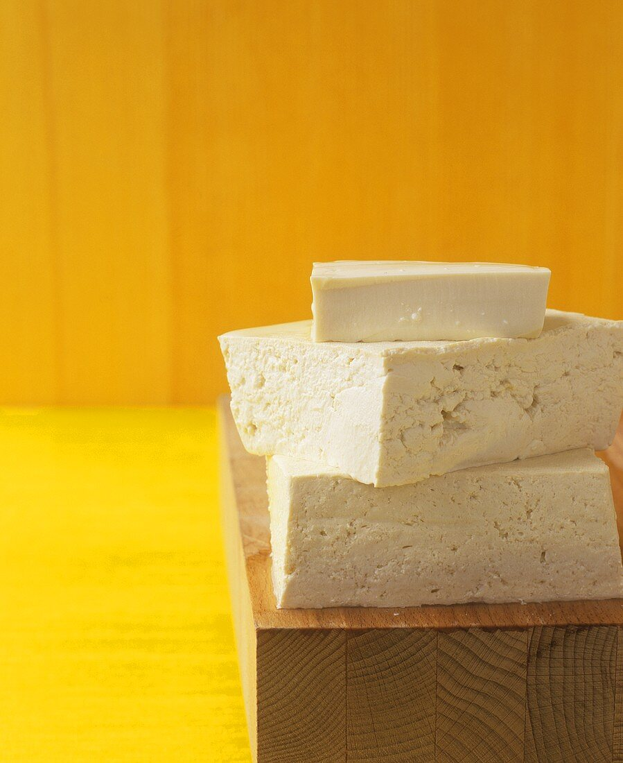 Different types of tofu (soft and firm)