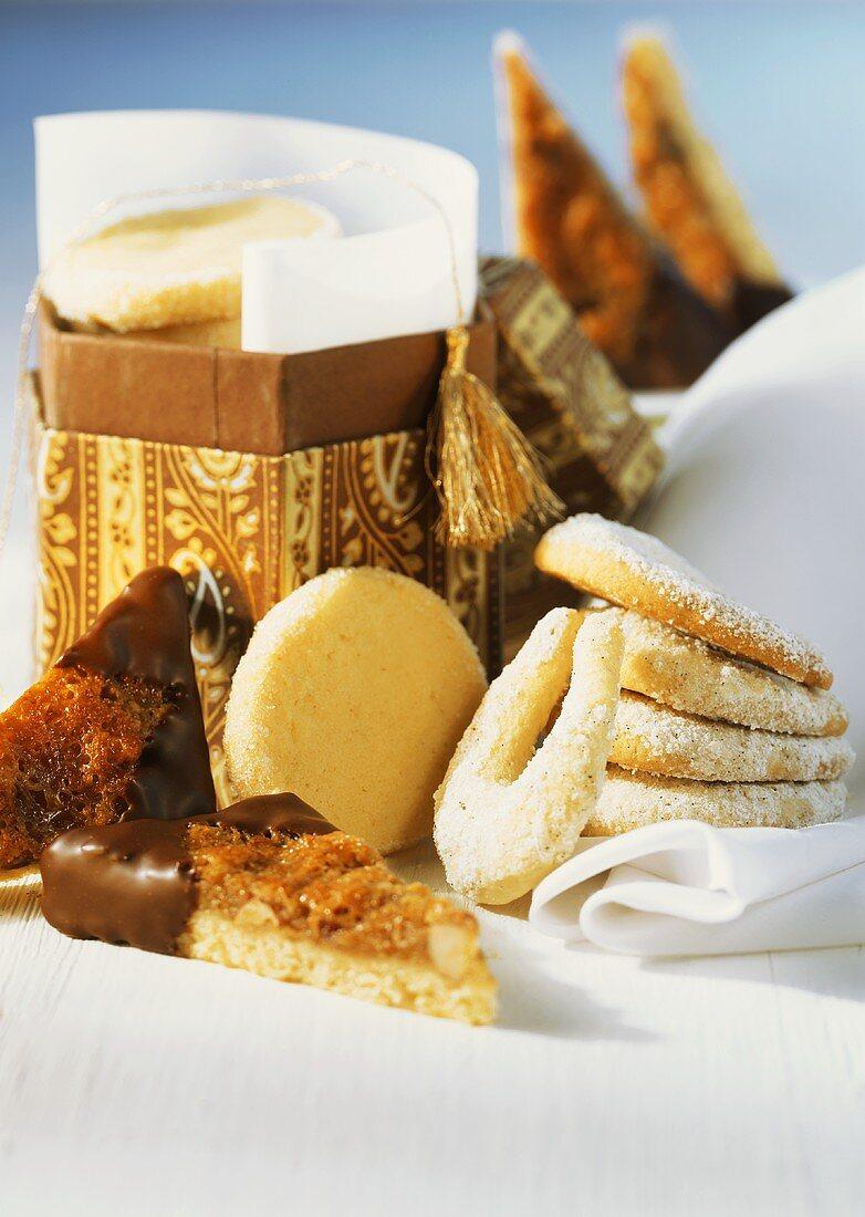 Sandies, nut triangles and vanilla crescents