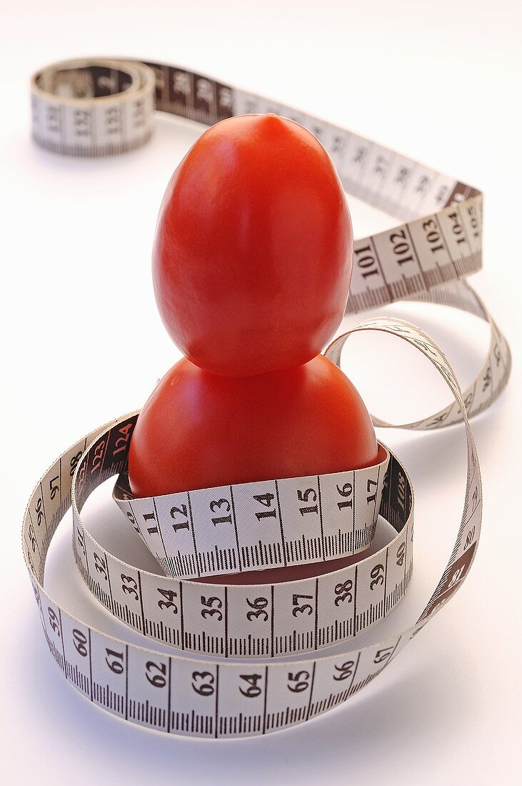 Tomatoes with tape measure