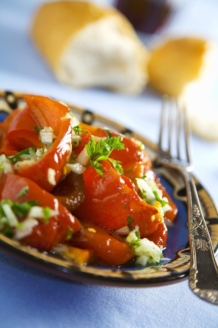 Petscheni Tschushky (Bulgarian pepper salad)