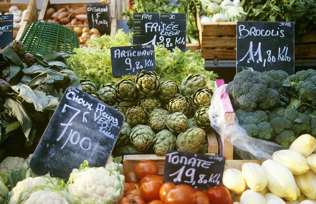 Vegetable market in Provence (France)