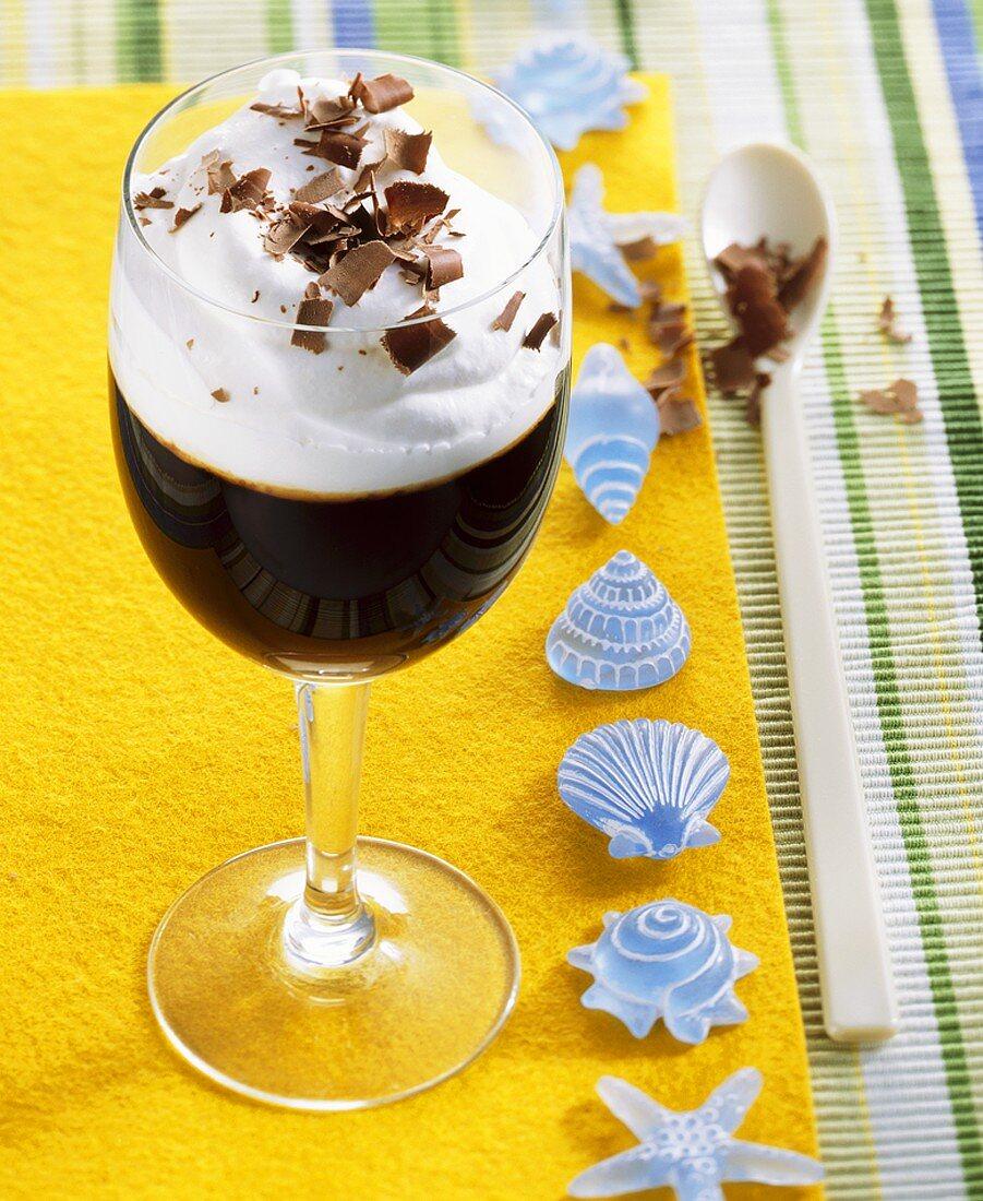 South Sea coffee (with Crème de Banana and white rum)