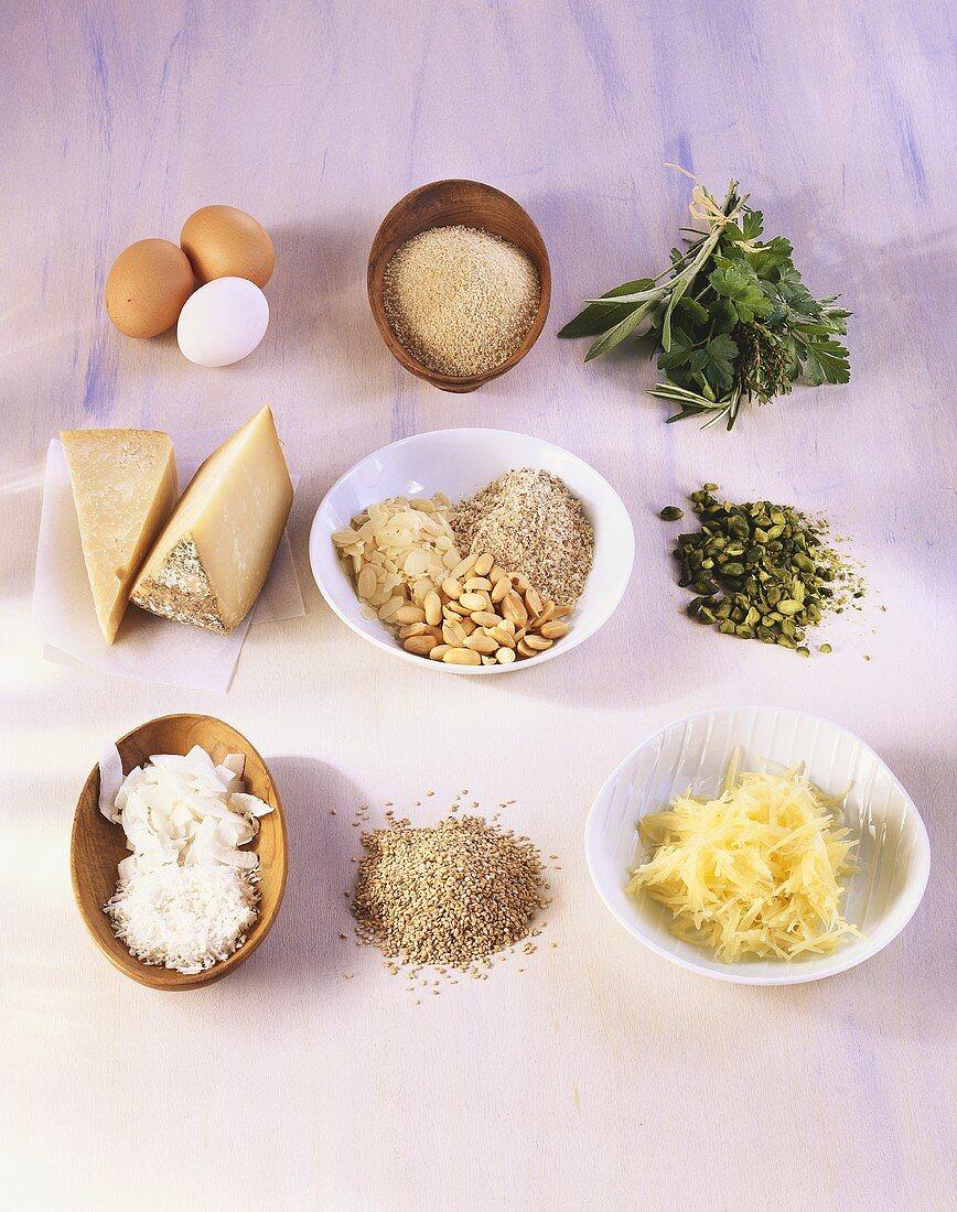 Ingredients for breadcrumb coating
