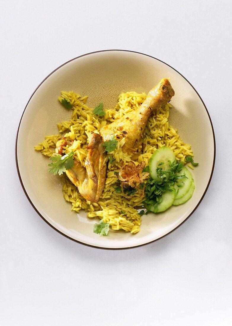 Nasi kebuli (Rice with chicken, Malaysia)