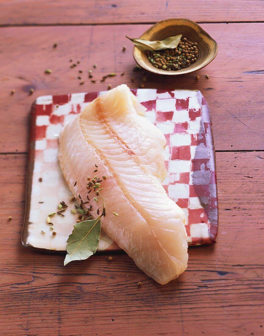 Redfish fillet with spices