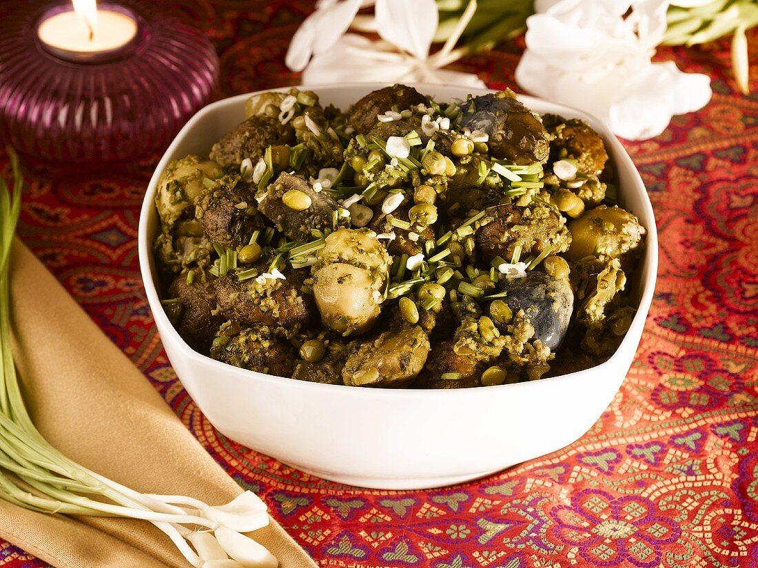 Undhiyu (Vegetable casserole, India)