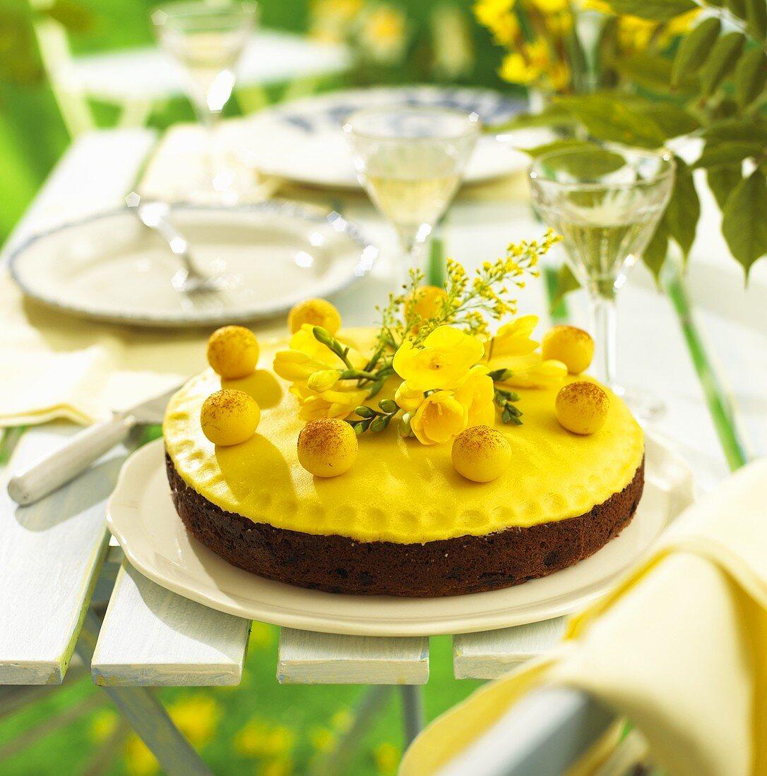 Simnel cake for Easter