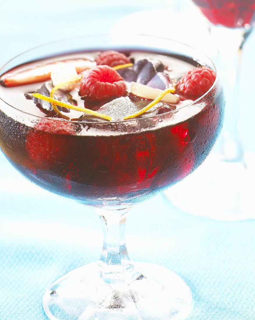 Raspberry cocktail with gin
