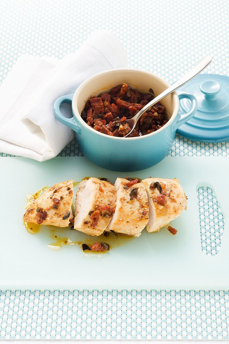 Chicken with chorizo and dried tomatoes