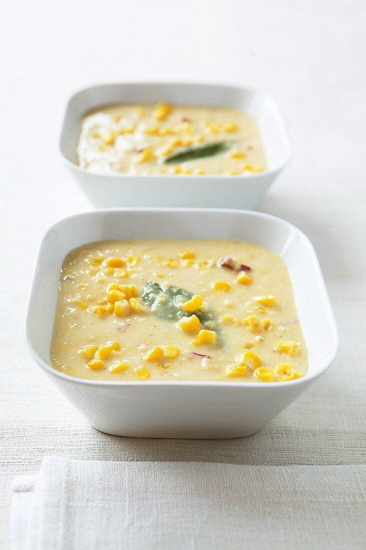 South African sweetcorn soup