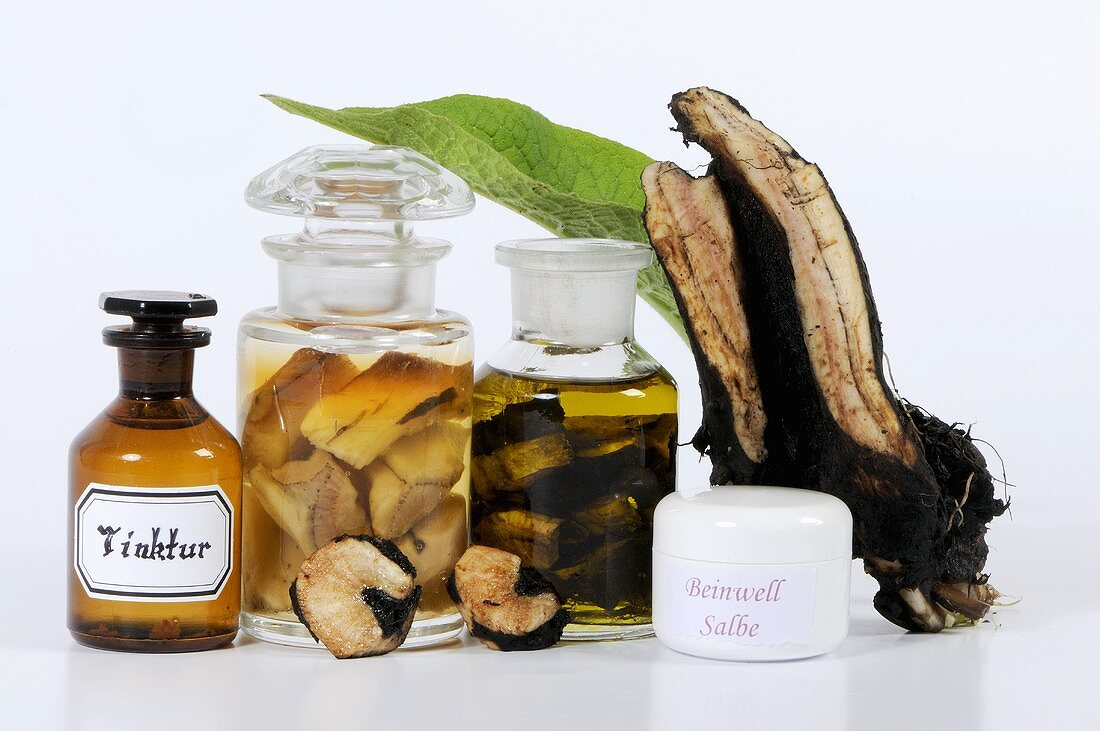 Various comfrey products