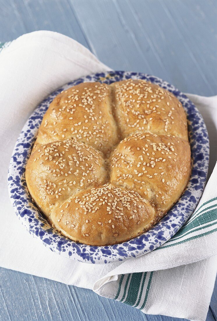 Flat bread with sesame