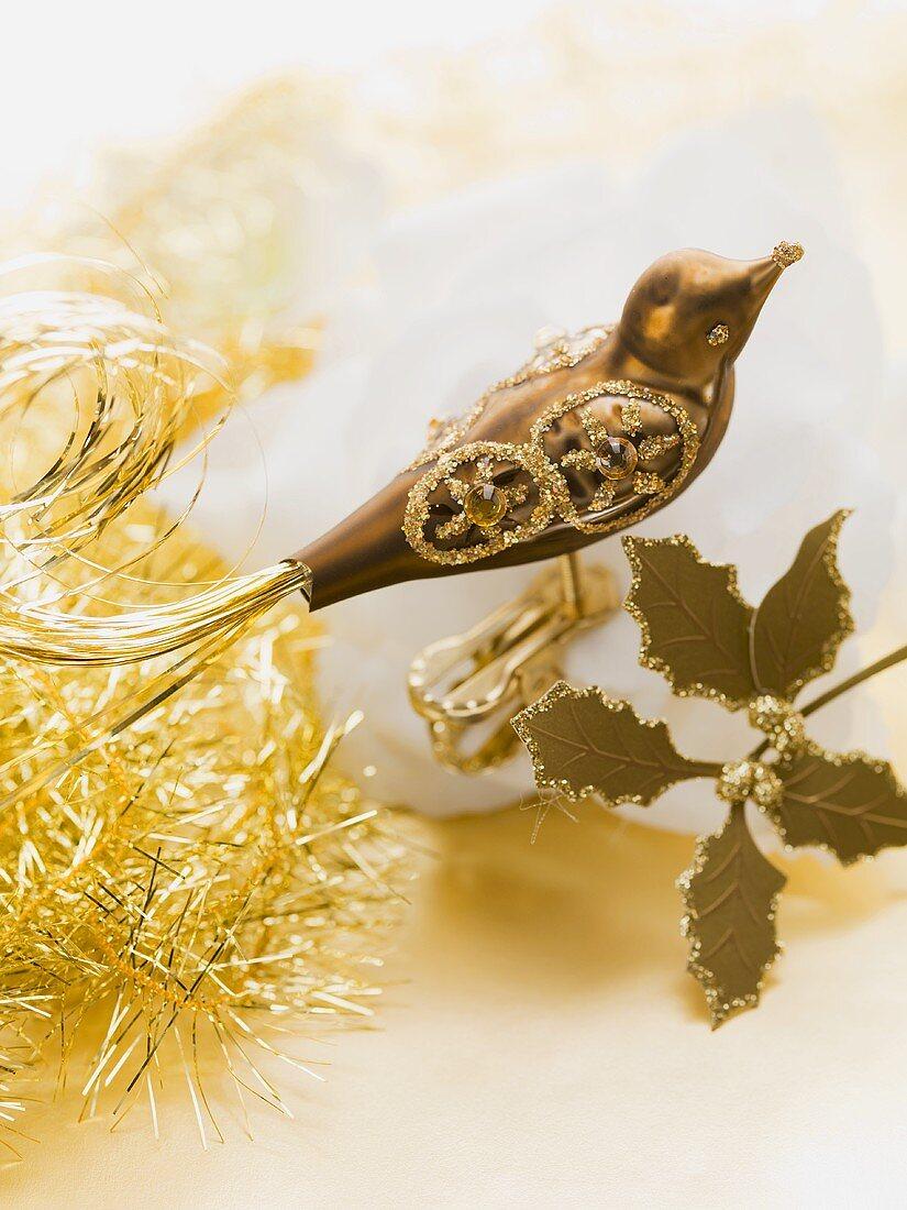 Golden bird (Christmas tree ornament)