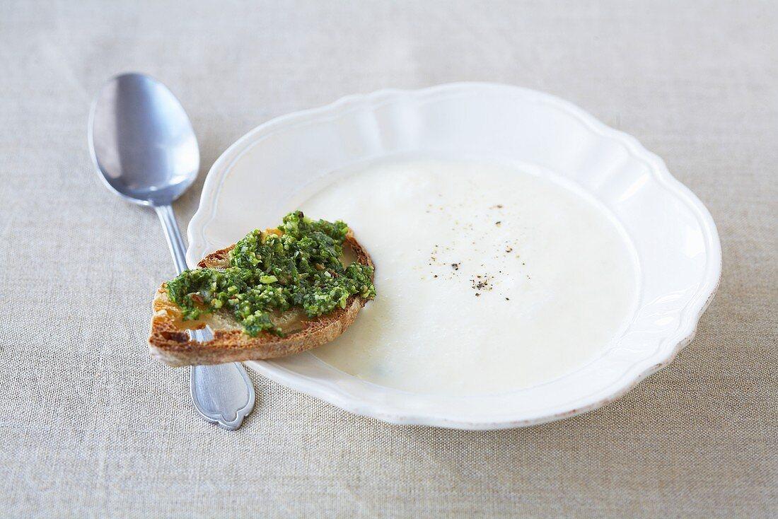 Zuppa al parmigiano (Italian Parmesan soup)