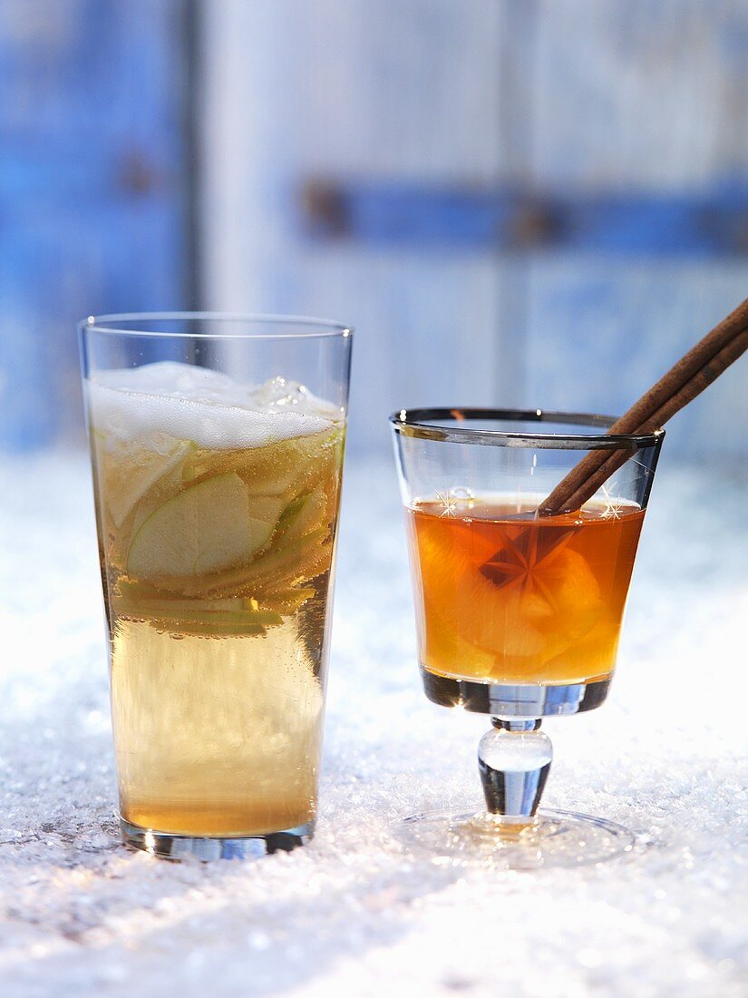Chilled apple punch & Winter Magic (rooibos tea with citrus fruit & cinnamon)