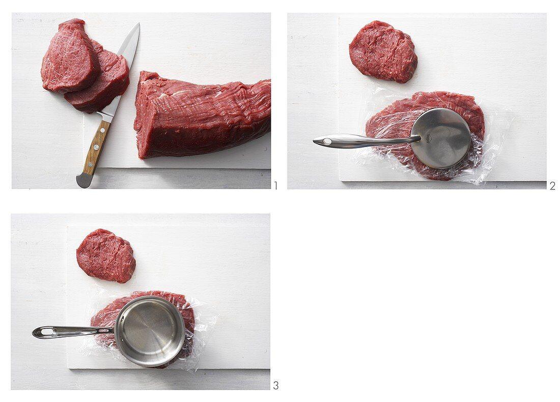Tenderising beef fillet