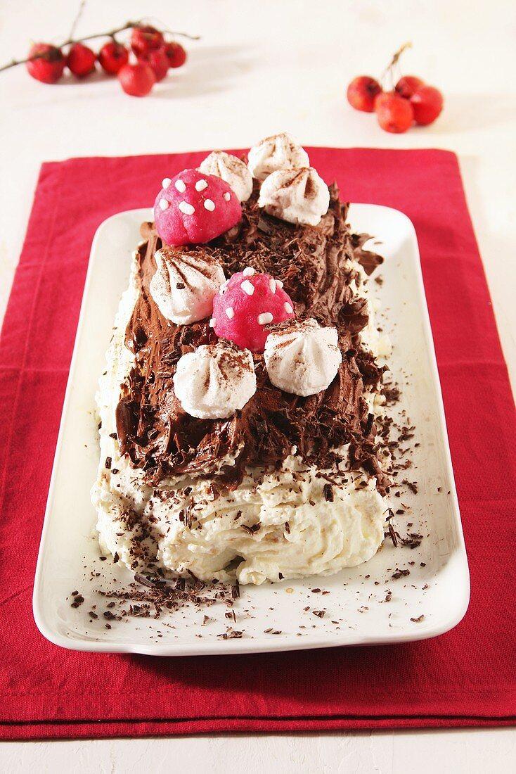 Bûche de Noël (Chocolate log for Christmas)