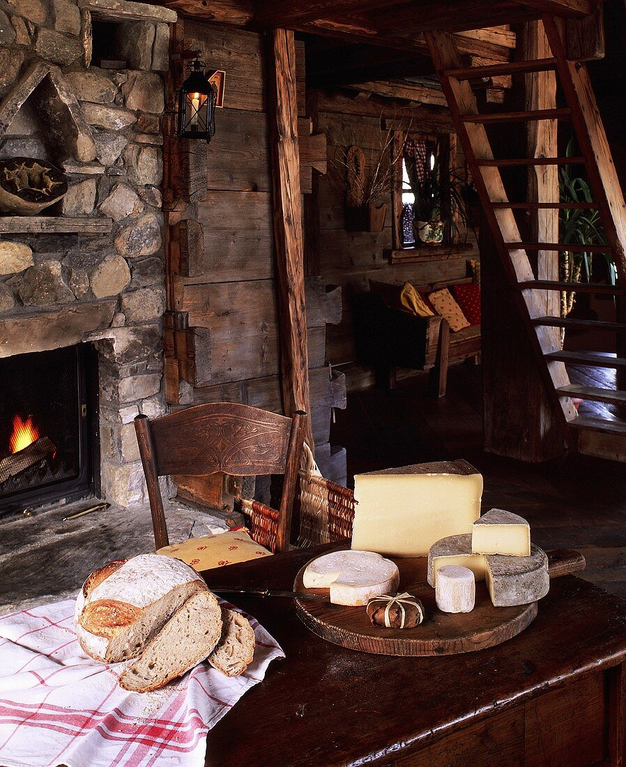 Various French Alpine cheeses