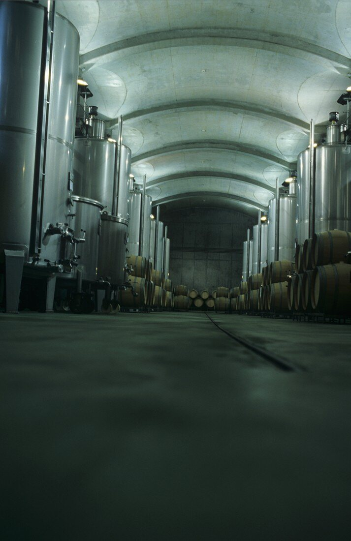 Modern vinification cellar, Oremus Winery, Hungary