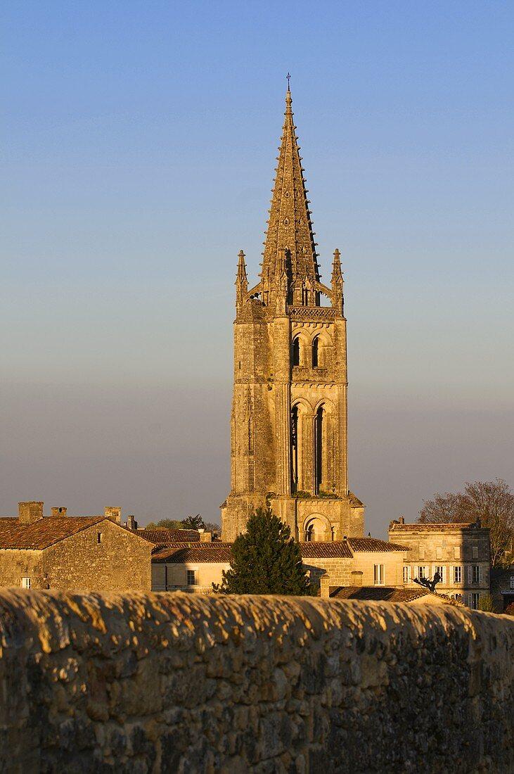 Church tower, Unesco World Heritage Site, wine town of St-Émilion