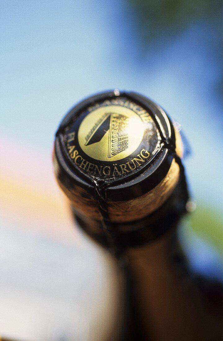 Impression Sektflasche, Naumburger Wein und Sektmanufaktur 'Naumburg-Henne', Saale-Unstrut, Deutschland