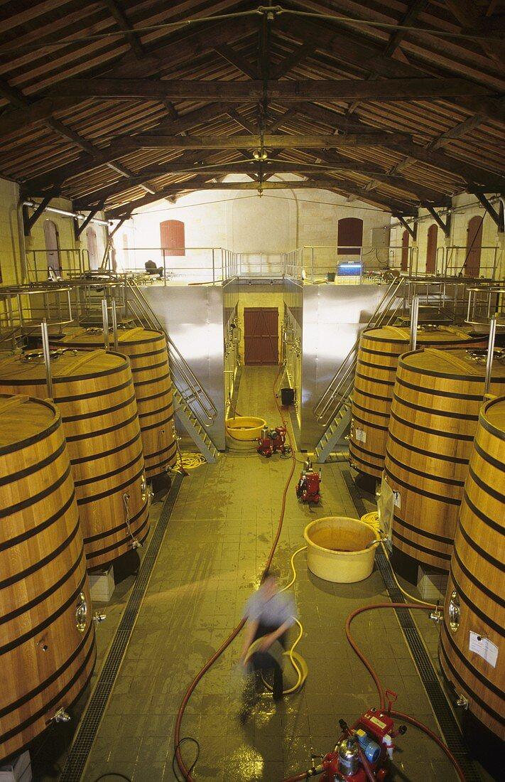 Fermentation tanks, Chateau Brane-Cantenac, Margaux, France