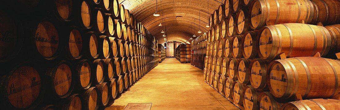 Cellar of Bodegas los Llanos Winery, Valdepeñas, Spain