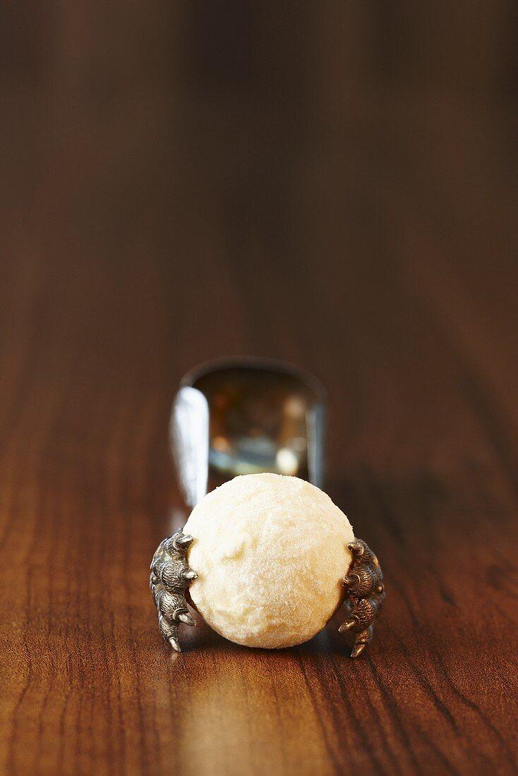 A champagne truffle