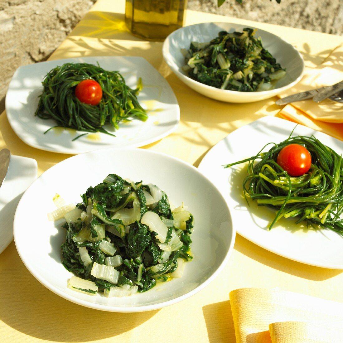 Verdure lesse (steamed vegetables, Italy)