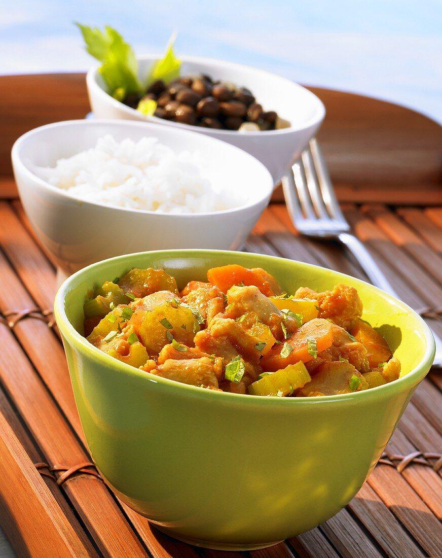 Jamaican style soya curry