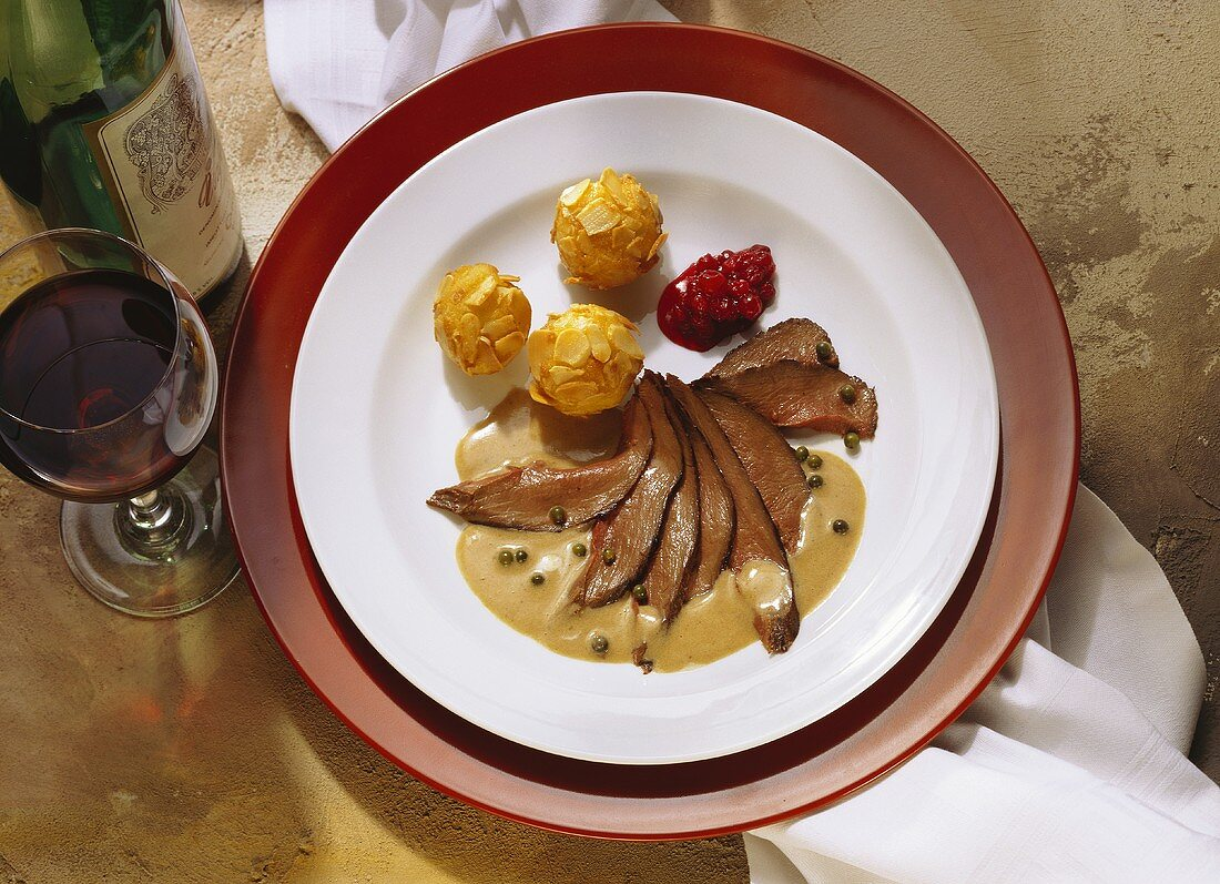 Saddle of Hare with hot Pepper Sauce
