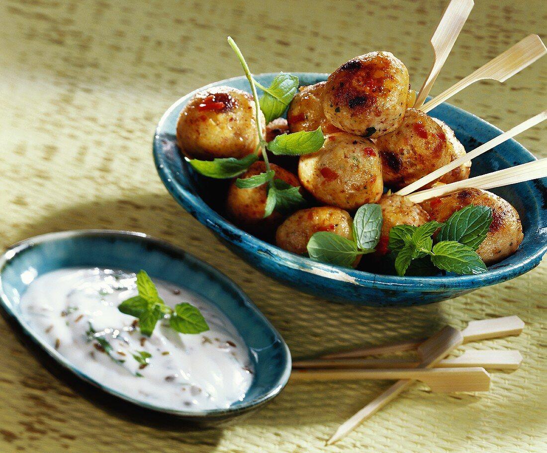 Potato and chicken kofta